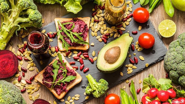 sebzeler ve sağlıklı yiyecekler