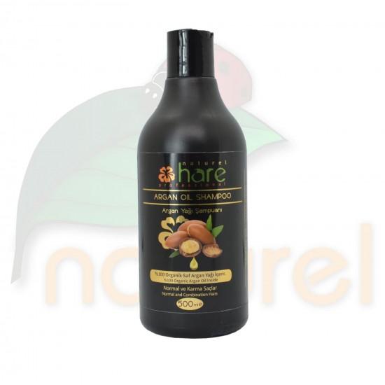Hare Argan Yağı Şampuanı 500ml, Normal ve Karma Yağlı Saçlar